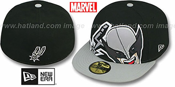 Spurs 'HERO-HCL' Black-Grey Fitted Hat by New Era