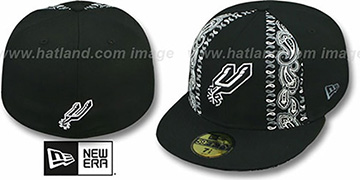 Spurs 'HWC BLACK BANDITO' Fitted Hat by New Era