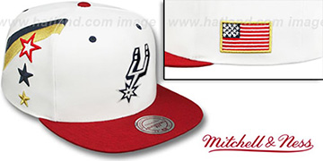 Spurs 'INDEPENDENCE SNAPBACK' Hat by Mitchell and Ness