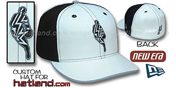 Spurs 'INSIDER PINWHEEL' White-Black Fitted Hat by New Era