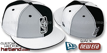 Spurs KEY-INSIDER PINWHEEL Grey-Black-White Fitted Hat