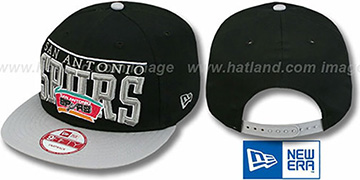 Spurs 'LE-ARCH SNAPBACK' Black-Grey Hat by New Era