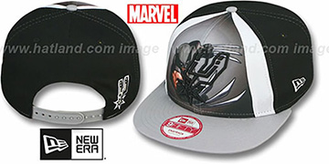 Spurs 'MARVEL RETRO-SLICE SNAPBACK' Black-Grey Hat by New Era