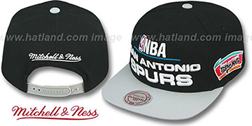 Spurs 'MEDIA-DAY SNAPBACK' Black-Grey Hat by Mitchell & Ness