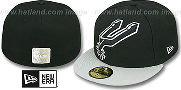 Spurs MIGHTY-XL Black-Grey Fitted Hat by New Era
