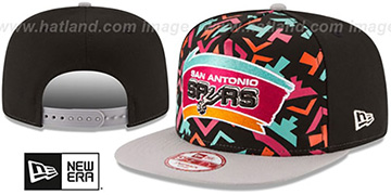 Spurs 'NBA JERSEY MURAL SNAPBACK' Hat by New Era
