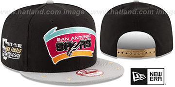 Spurs NBA STAR-TRIM SNAPBACK Black-Grey Hat by New Era