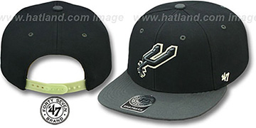 Spurs 'NIGHT-MOVE SNAPBACK' Adjustable Hat by Twins 47 Brand
