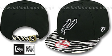 Spurs OSTRICH-ZEBRA STRAPBACK Hat by New Era