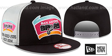 Spurs PANEL PRIDE SNAPBACK Hat by New Era