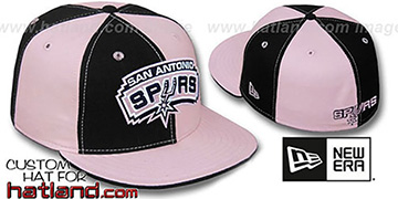 Spurs PINWHEEL Black-Pink Fitted Hat by New Era