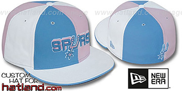 Spurs 'PINWHEEL' Columbia-Pink-White Fitted Hat by New Era