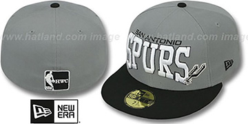 Spurs 'PRO-ARCH' Grey-Black Fitted Hat by New Era