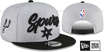 Spurs ROPE STITCH DRAFT SNAPBACK Grey-Black Hat by New Era