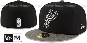 Spurs RUSTIC-VIZE Black-Grey Fitted Hat by New Era