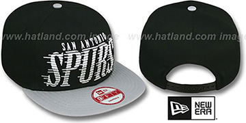 Spurs 'SAILTIP SNAPBACK' Black-Grey Hat by New Era