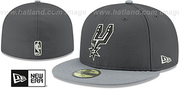 Spurs SHADER MELT-2 Grey-Grey Fitted Hat by New Era