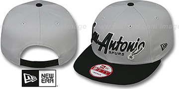 Spurs 'SNAP-IT-BACK SNAPBACK' Grey-Black Hat by New Era