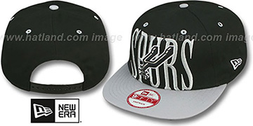 Spurs STEP-ABOVE SNAPBACK Black-Grey Hat by New Era