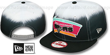 Spurs 'SUBLENDER SNAPBACK' Black-White Hat by New Era