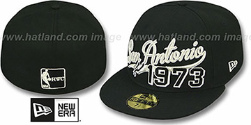 Spurs THE BEGINNING Black Fitted Hat by New Era