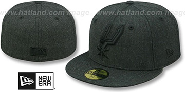 Spurs TOTAL TONE Heather Black Fitted Hat by New Era