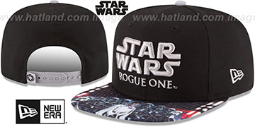 Star Wars ROGUE ONE VILLAIN SNAPBACK Black Hat by New Era
