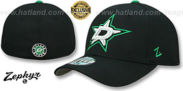 Stars SHOOTOUT Black Fitted Hat by Zephyr