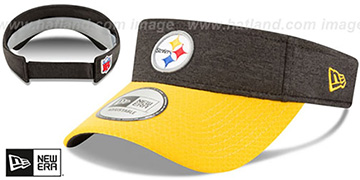 Steelers 18 NFL STADIUM Black-Gold Visor by New Era