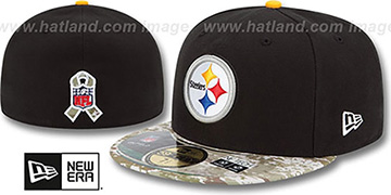 Steelers 2014 SALUTE-TO-SERVICE Black-Desert Fitted Hat by New Era