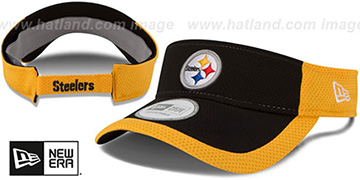Steelers '2015 NFL TRAINING VISOR' Black-Gold by New Era