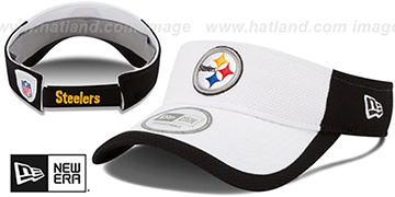 Steelers '2015 NFL TRAINING VISOR' White-Black by New Era