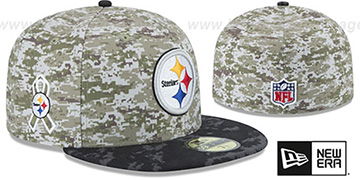 Steelers '2015 SALUTE-TO-SERVICE' Desert-Black Fitted Hat by New Era