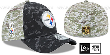 Steelers '2015 SALUTE-TO-SERVICE' Desert-Black Flex Hat by New Era