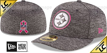 Steelers 2016 LOW-CROWN BCA Grey Fitted Hat by New Era