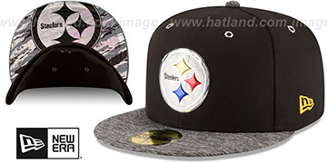 Steelers '2016 MONOCHROME NFL DRAFT' Fitted Hat by New Era