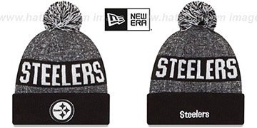 Steelers '2016 STADIUM' Black-White Knit Beanie Hat by New Era