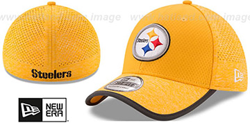 Steelers 2017 NFL TRAINING FLEX Gold Hat by New Era