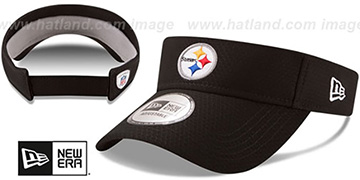Steelers '2017 NFL TRAINING VISOR' Black by New Era