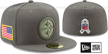 Steelers 2017 SALUTE-TO-SERVICE Green Fitted Hat by New Era