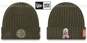 Steelers 2017 SALUTE-TO-SERVICE Knit Beanie Hat by New Era