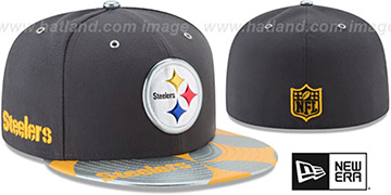 Steelers '2017 SPOTLIGHT' Charcoal Fitted Hat by New Era