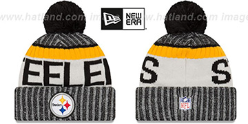 Steelers '2017 STADIUM BEANIE' Black Knit Hat by New Era