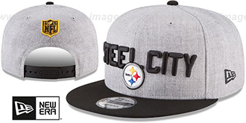 Steelers '2018 ONSTAGE SNAPBACK' Grey-Black Hat by New Era