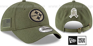 Steelers '2018 SALUTE-TO-SERVICE STRAPBACK' Olive Hat by New Era