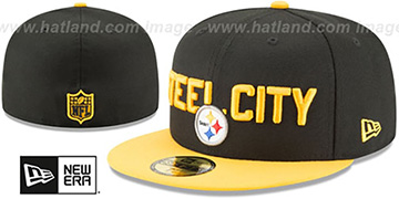 Steelers 2018 SPOTLIGHT Black-Gold Fitted Hat by New Era