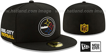 Steelers 2020 NFL VIRTUAL DRAFT Black Fitted Hat by New Era
