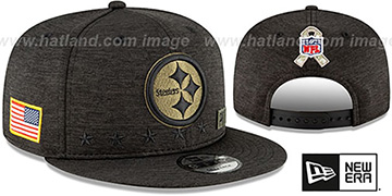 Steelers 2020 SALUTE-TO-SERVICE SNAPBACK ST Black Hat by New Era