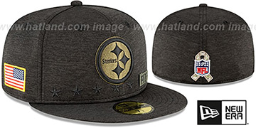 Steelers 2020 SALUTE-TO-SERVICE ST Black Fitted Hat by New Era