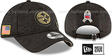Steelers 2020 SALUTE-TO-SERVICE STRAPBACK ST Black Hat by New Era